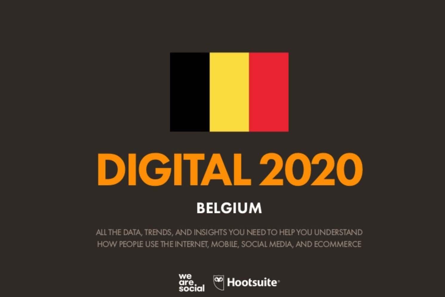 Cijfers over internet, sociale media en e-commerce in België 2020