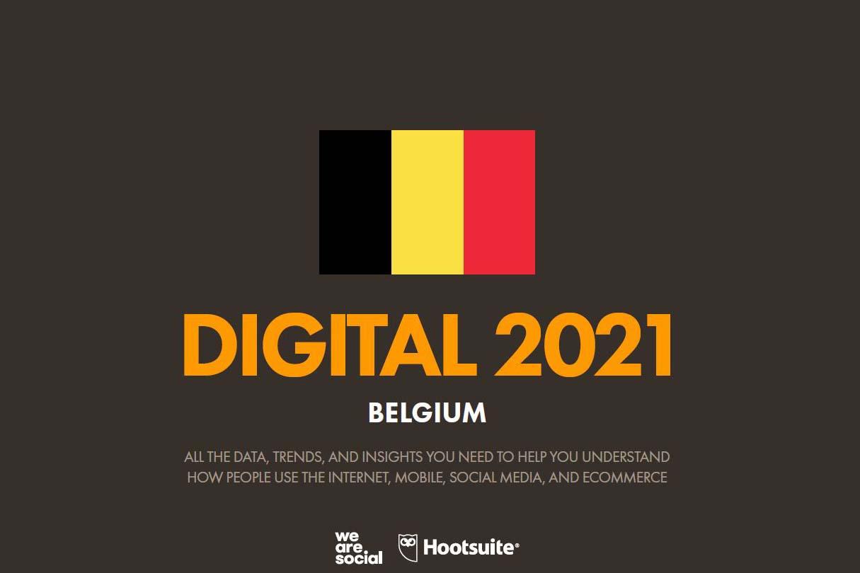 cijfers sociale media België 2021
